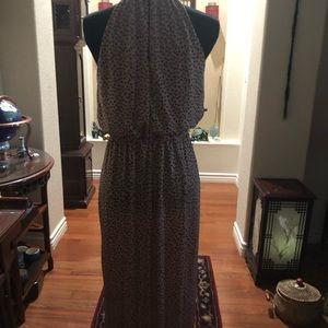 Enfocus Studio Dresses - Long polka dot halter dress
